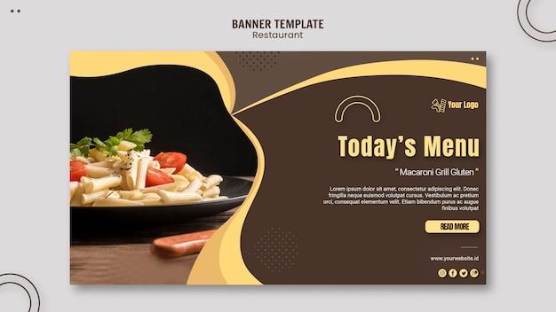 Sjabloon voor spandoek pasta restaurant