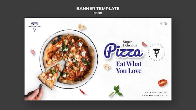 Sjabloon voor spandoek pizza restaurant
