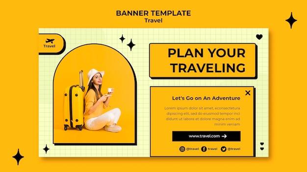 Sjabloon voor spandoek reizen concept