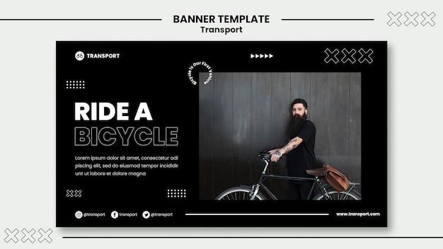 Sjabloon voor spandoek rijden op de fiets