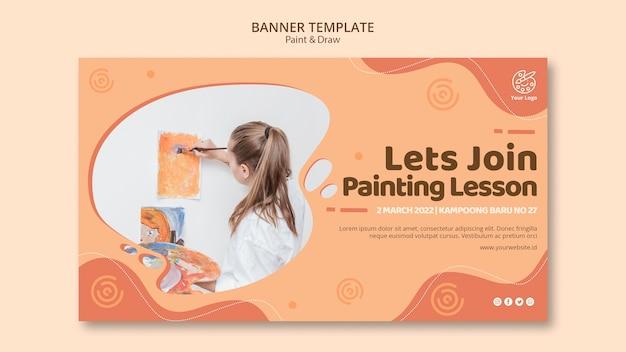 Sjabloon voor spandoek schilderen en tekenen