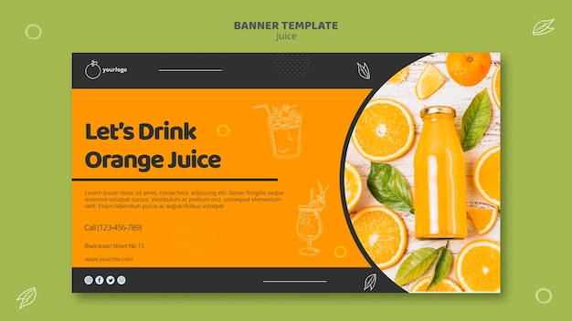 Sjabloon voor spandoek sinaasappelsap