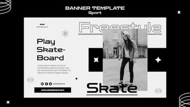 Sjabloon voor spandoek skateboarden