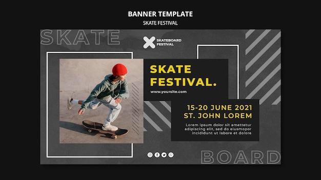 Sjabloon voor spandoek skatefestival