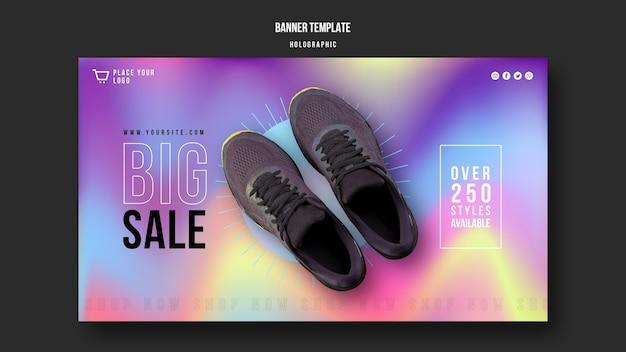 Sjabloon voor spandoek sneakers verkoop