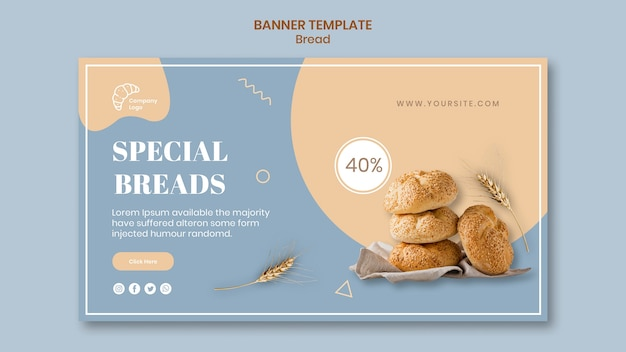 Sjabloon voor spandoek speciaal brood