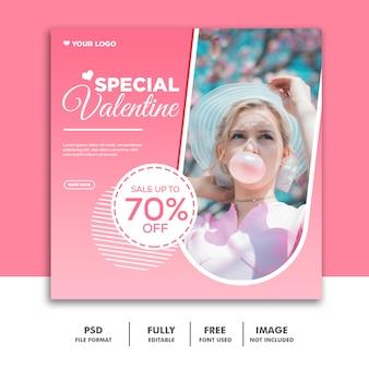 Sjabloon voor spandoek speciale valentine verkoop
