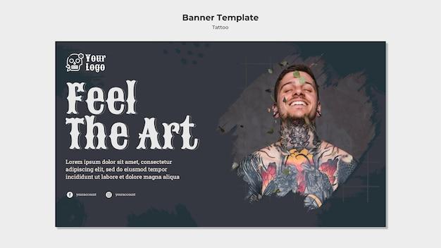 Sjabloon voor spandoek tattoo artiest