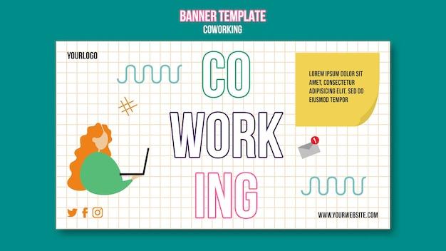 Sjabloon voor spandoek teamwerk concept concept