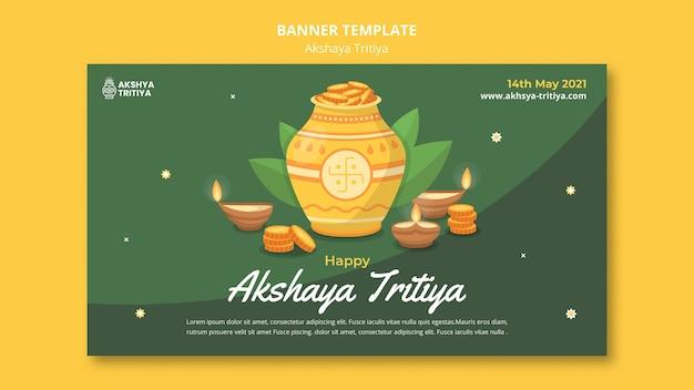 Sjabloon voor spandoek van akshaya tritiya