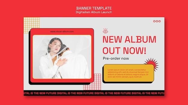 Sjabloon voor spandoek van album lancering
