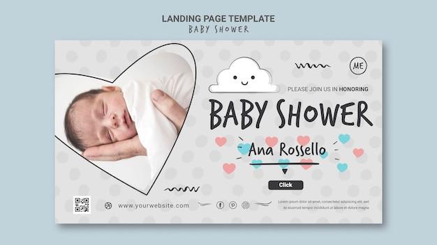 Sjabloon voor spandoek van baby shower