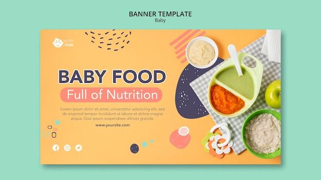 Sjabloon voor spandoek van babyvoeding