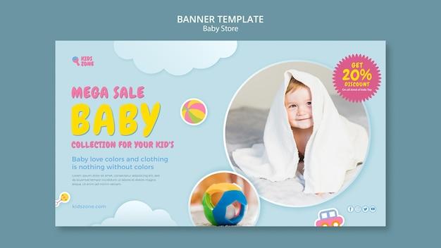 Sjabloon voor spandoek van babywinkel