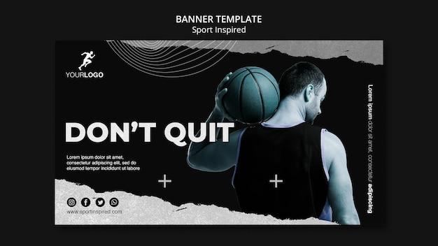 Sjabloon voor spandoek van basketbal training advertentie
