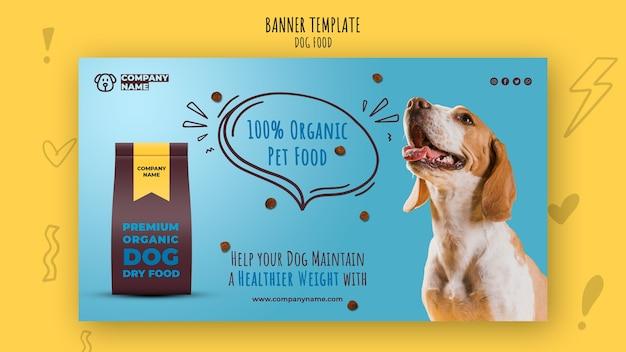 Sjabloon voor spandoek van biologisch voedsel voor huisdieren