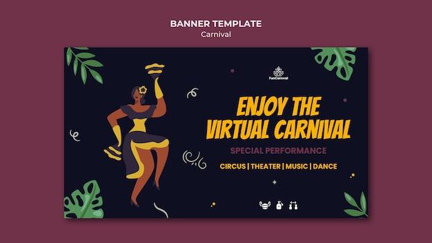 Sjabloon voor spandoek van carnaval