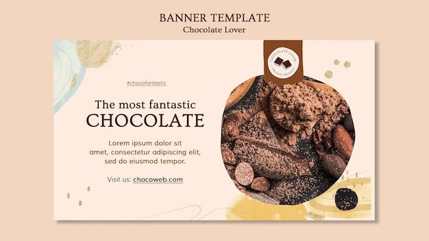 Sjabloon voor spandoek van chocoladeliefhebber