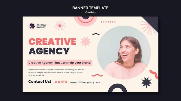 Sjabloon voor spandoek van creativiteit bureau