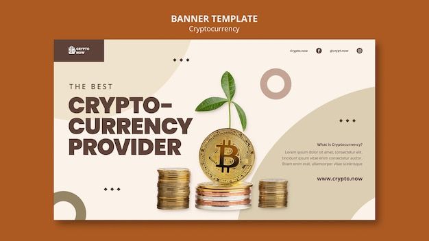 Sjabloon voor spandoek van crypto-valutaprovider