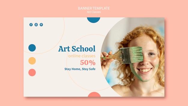 Sjabloon voor spandoek van de kunstschool
