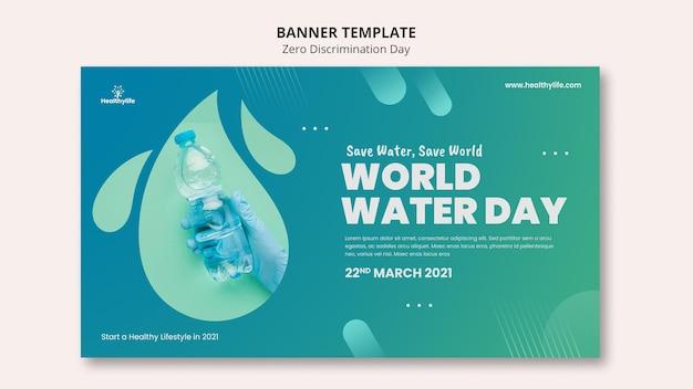 Sjabloon voor spandoek van de wereldwaterdag