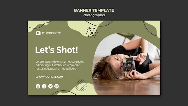 Sjabloon voor spandoek van fotograaf studio