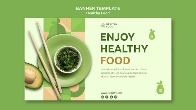 Sjabloon voor spandoek van gezonde voeding