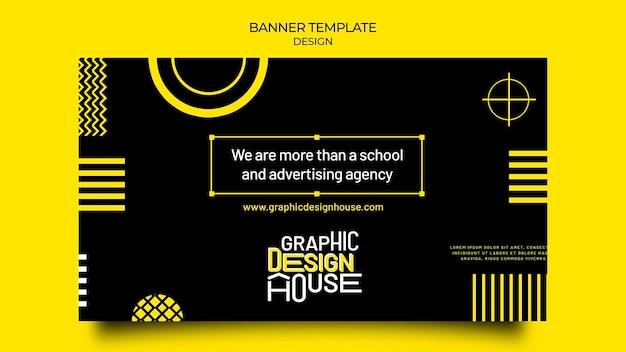 Sjabloon voor spandoek van grafisch ontwerpdiensten