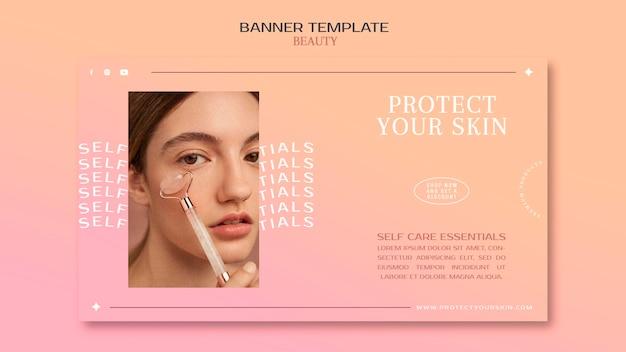 Sjabloon voor spandoek van huidverzorgingsproducten