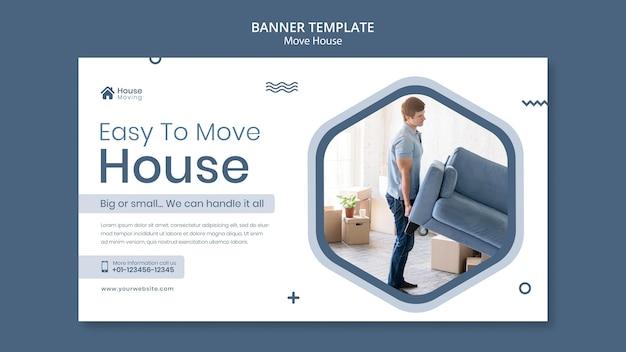 Sjabloon voor spandoek van huis verhuizen dienst
