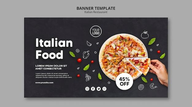 Sjabloon voor spandoek van italiaans restaurant