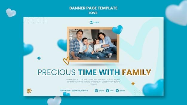 Sjabloon voor spandoek van kostbare familie tijd