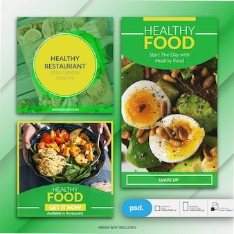 Sjabloon voor spandoek van levensmiddelenbedrijf