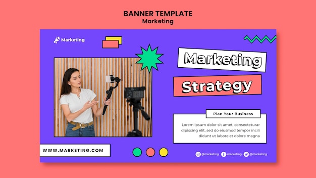 Sjabloon voor spandoek van marketingstrategie