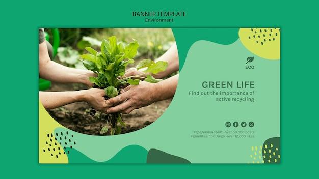 Sjabloon voor spandoek van milieu-concept