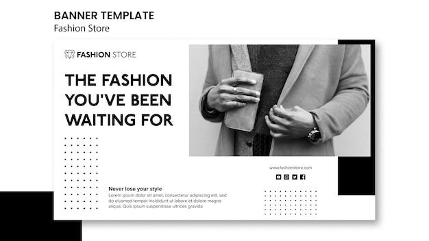 Sjabloon voor spandoek van mode-concept