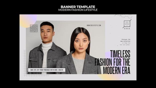 Sjabloon voor spandoek van moderne mode levensstijl