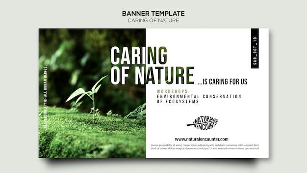 Sjabloon voor spandoek van natuur concept Gratis Psd