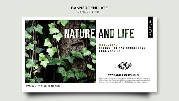 Sjabloon voor spandoek van natuur concept