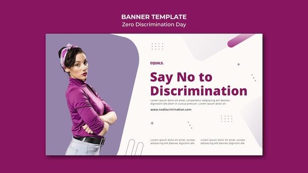 Sjabloon voor spandoek van nul discriminatie dag evenement