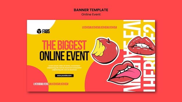 Sjabloon voor spandoek van online evenement