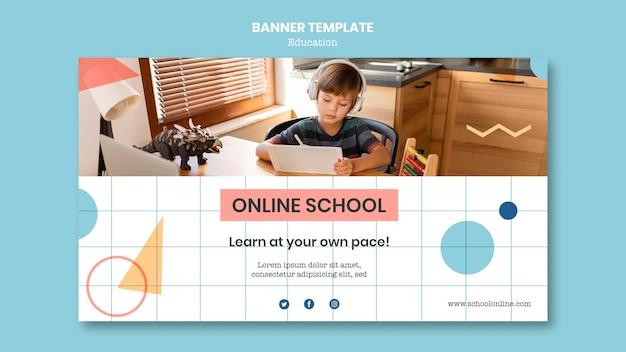 Sjabloon voor spandoek van online school
