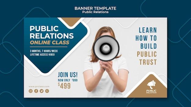 Sjabloon voor spandoek van public relations