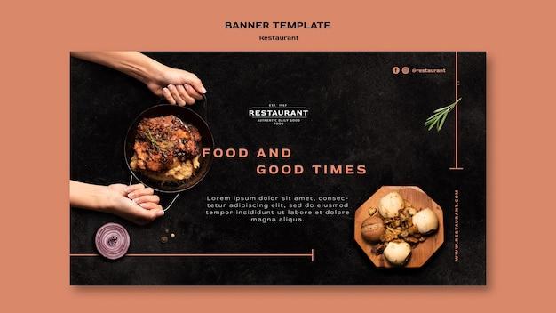 Sjabloon voor spandoek van restaurant promo