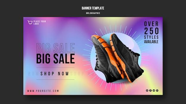 Sjabloon voor spandoek van sneakers verkoop