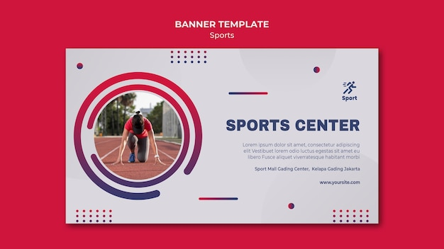 Sjabloon voor spandoek van sportcentrum