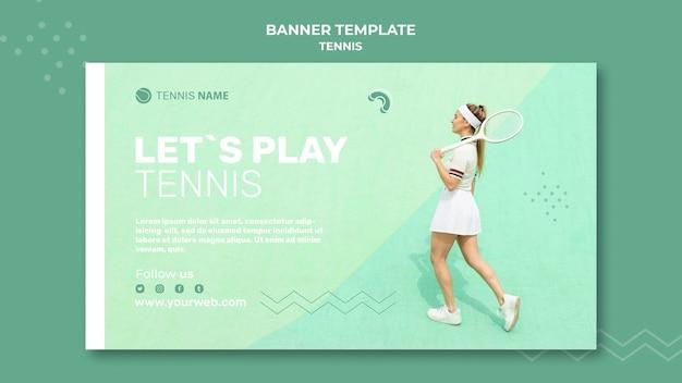 Sjabloon voor spandoek van tennis praktijk