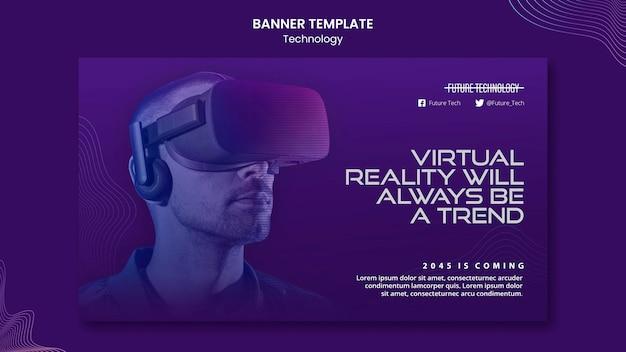 Sjabloon voor spandoek van virtuele realiteit
