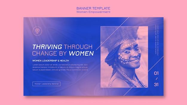 Sjabloon voor spandoek van vrouwen empowerment